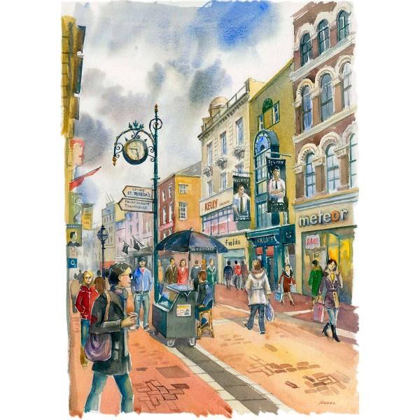 Grafton Street Paper Seller